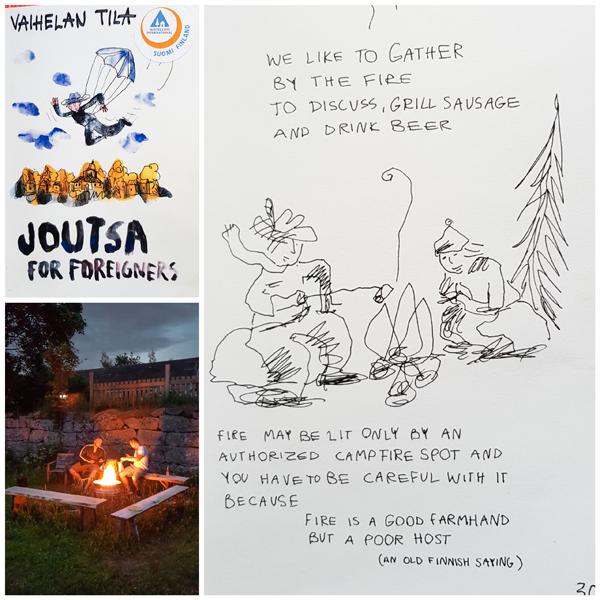 Hostellijärjestön Hostellireissaaja Teemu Karhu Vaihelan Tilalla Joutsassa.
